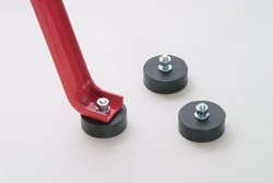 Rubber feet for extractor with screw M8