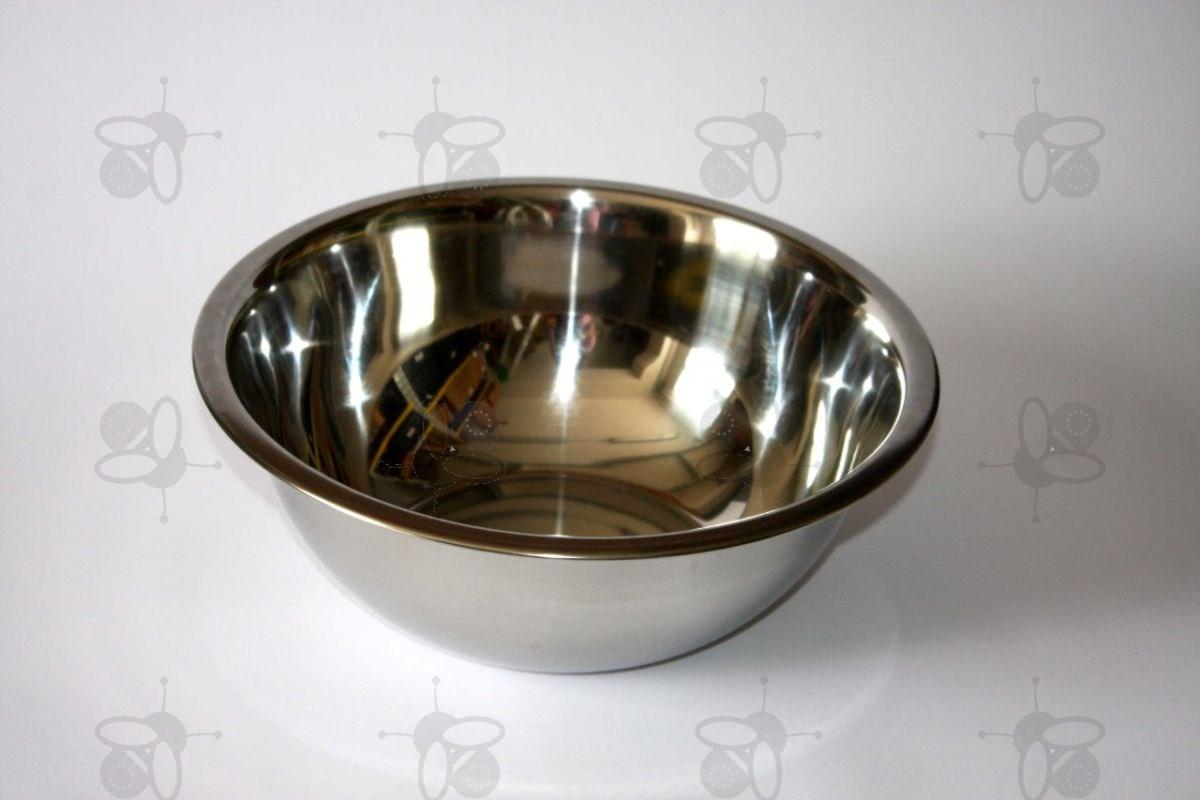 Wasbak 2,3 l, Ø 24 cm, roestvrij staal (3360)  Honingslingers Logar # Wasbak Staal_194449