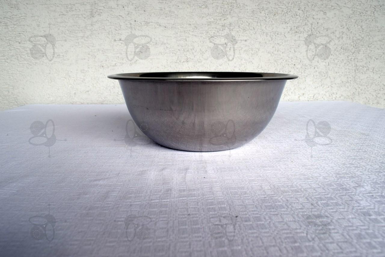 Wasbak 3,2 l, Ø 26 cm, roestvrij staal (3361)  Honingslingers Logar # Wasbak Staal_194449