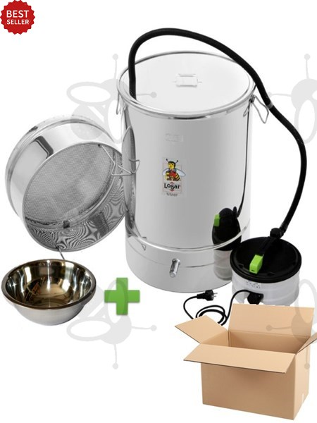 Picture of Wax melter/disinfection pan 100 l, with steam generator, stainless steel + wax bowl 3,2 l
