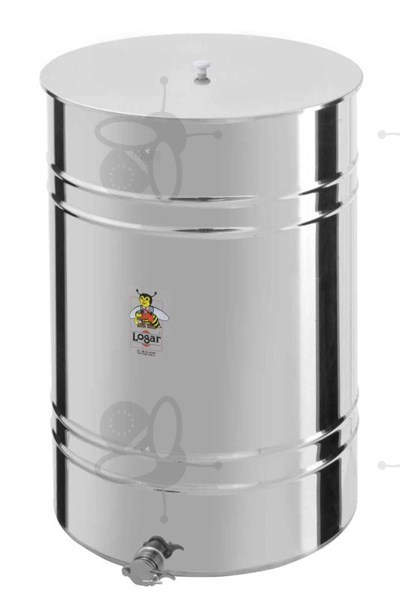 Picture of Honey tank 750 kg, stainless steel gate 6/4""