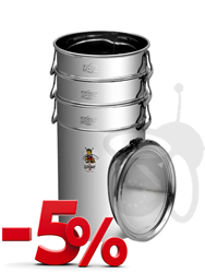 Picture of Bundle: 3 stackable storage tanks 25 kg with airtight lid, stainless steel (-5% Discount)