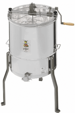 Tangential honey extractors