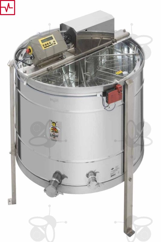 2 Frame Honey Extractor Stainless Steel Beekeeping Self-Turning Bee Hive HOT