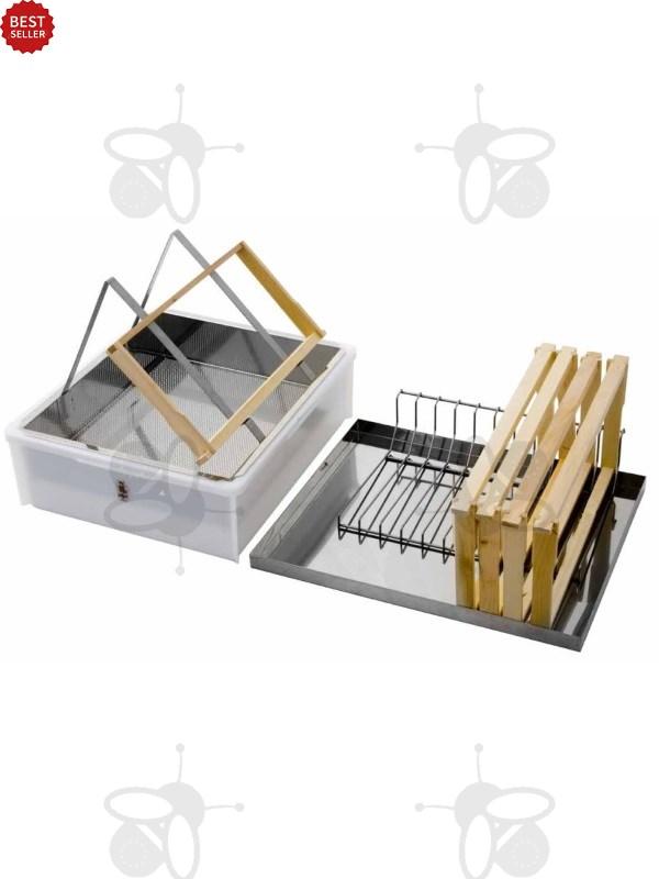 logar entdeckelungswanne mit deckel und wabenablage 8033 honigschleudern logar. Black Bedroom Furniture Sets. Home Design Ideas