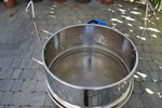 Wax melter/disinfection pan 100 l, with steam generator, stainless steel + wax bowl 3,2 l