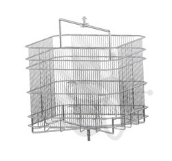 Picture of 4 frames basket, tangential, 37x41 cm, diameter 63 cm, stainless steel