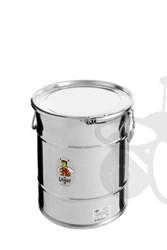 Picture of Stackable storage tank 25 kg with airtight lid, stainless steel