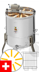 Picture of Logar radial honey extractor for 6 Swiss honey combs and 3 Swiss brood combs, barrel 52 cm, 110W motor