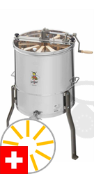 Picture of Logar 9-frames radial honey extractor for 6 Swiss honey frames, barrel 52 cm, manual drive