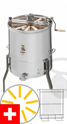 Picture of Logar radial honey extractor for 6 Swiss honey combs and 3 Swiss brood combs, 52 cm barrel, manual drive