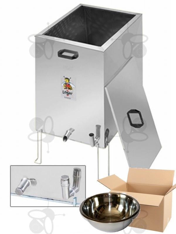 dampfwachsschmelzer eckig und desinfektorwanne edelstahl wachsschale 3 2 l 3306. Black Bedroom Furniture Sets. Home Design Ideas