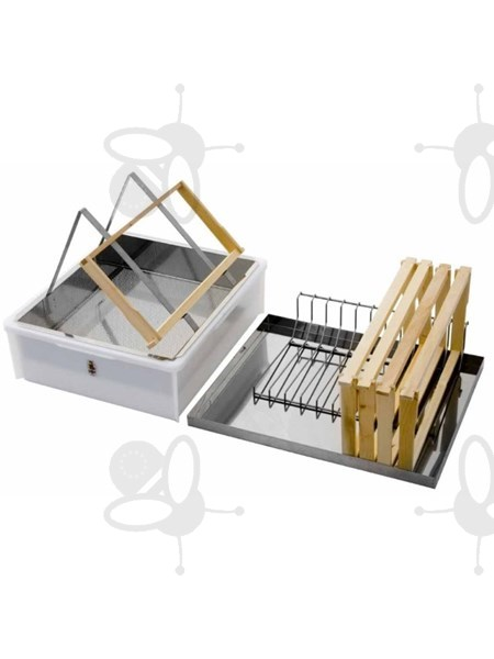 Picture of Uncapping tray for 1 person, with lid, uncapping stand and frame holder