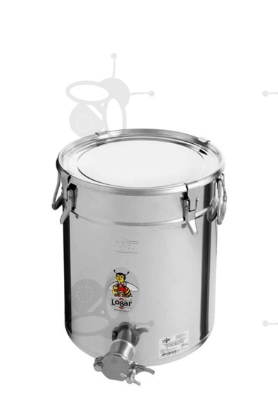 Picture of Honey tank 35 kg, airtight lid, stainless steel gate