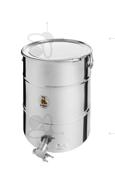 Picture of Honey tank 100 kg, airtight lid, stainless steel gate