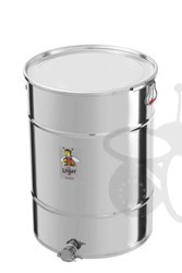 Picture of Honey tank 200 kg, airtight lid, stainless steel gate 6/4""