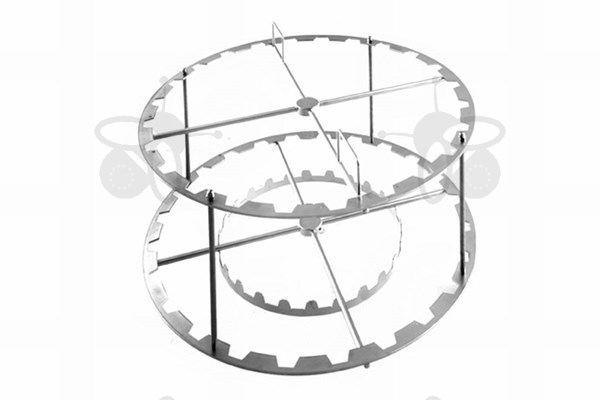 Picture of 24 frames basket, radial, diameter 76 cm, stainless steel