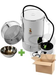 Picture of Wax melter/disinfection pan 100 l, with steam generator, stainless steel + wax bowl 2,3 l
