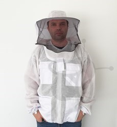 Picture of Beekeeping jacket made of breathable mesh fabric and fencing hood